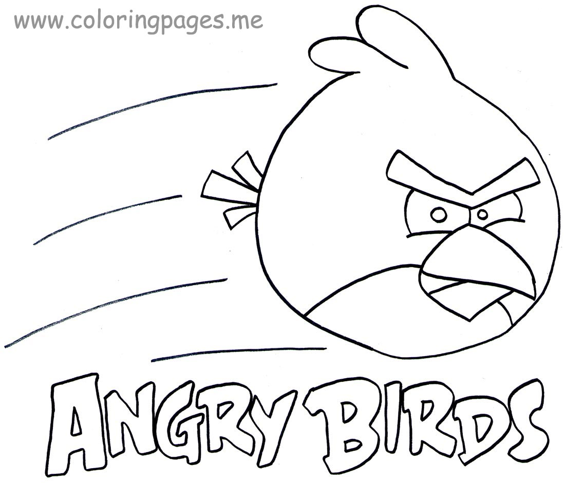 Coloring Pages Of Angry Birds Go Free